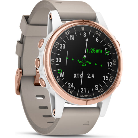 Garmin D2 Delta S Aviation GPS Watch | Rose Gold/Beige S010-01987-30