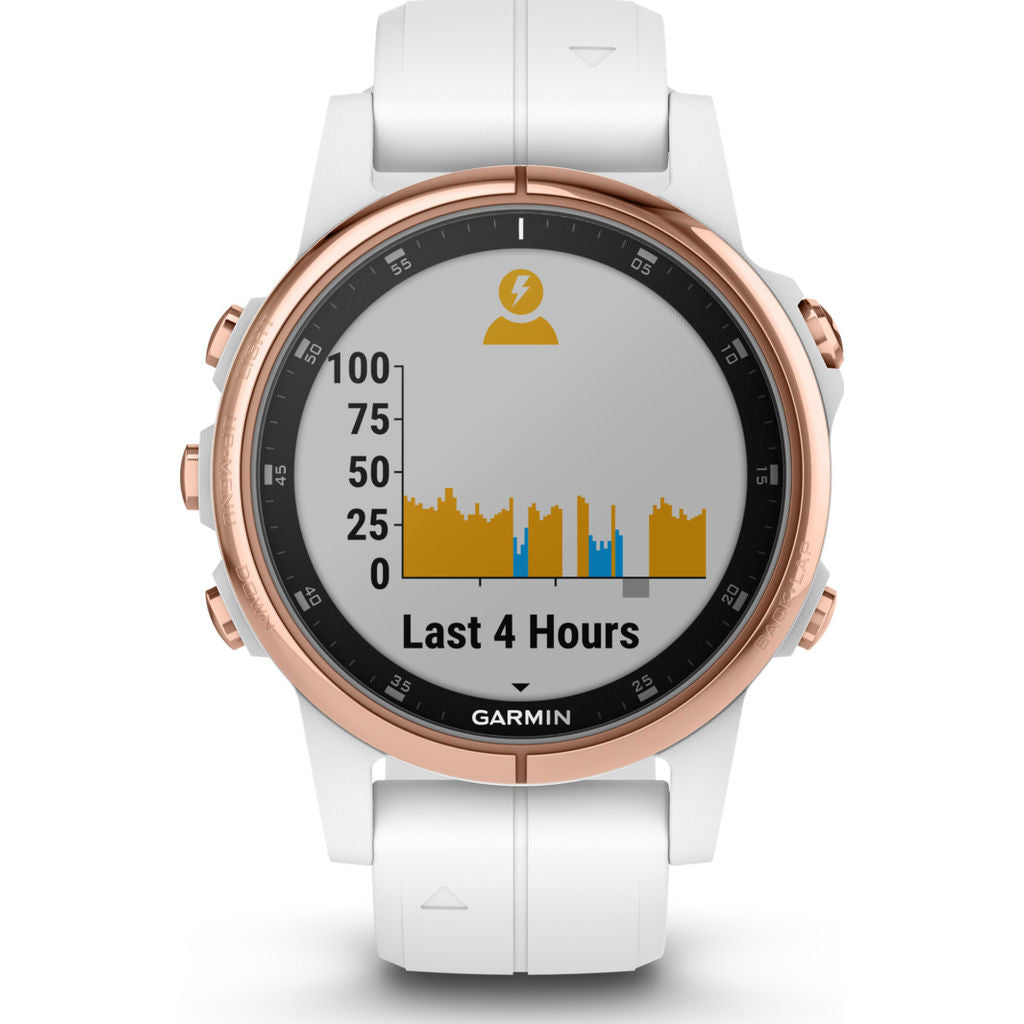 Garmin Fenix 5S Plus Sapphire Multisport GPS Watch | Rose Gold/White