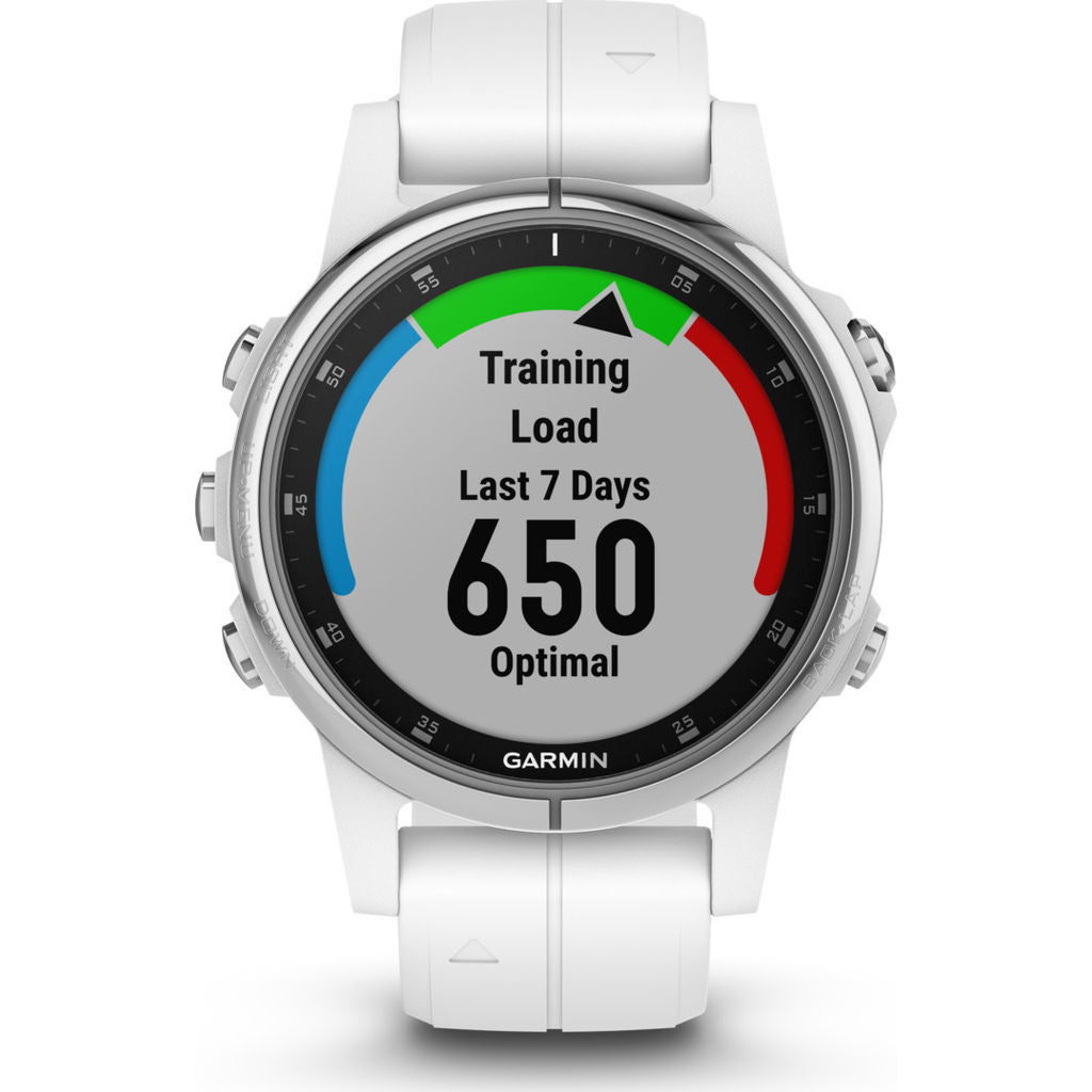 Garmin Fenix 5S Plus Sapphire Multisport GPS Watch | Carrara White 010-01987-00