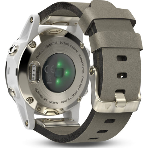 Garmin Fenix 5S Sapphire Multisport GPS Watch | Champagne/White/Gray 010-01685-12