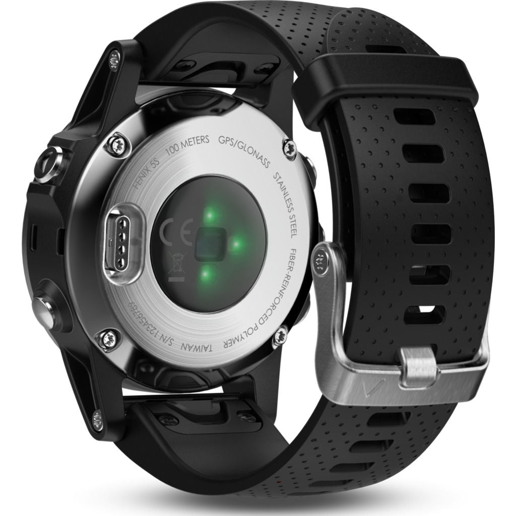 Garmin Fenix 5S Multisport GPS Watch | Silver/Black 010-01685-02