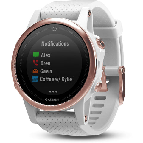 Garmin Fenix 5S Sapphire Multisport GPS Watch | Rose/Gold Tone/White