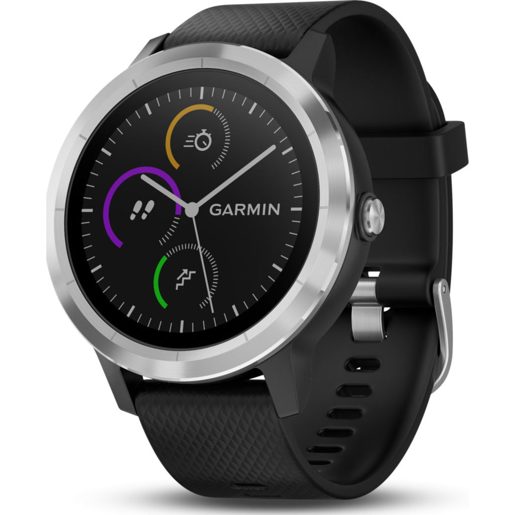 Garmin Vivoactive 3 Activity Tracking GPS Smartwatch | Black & Stainess 010-01769-01 ENG