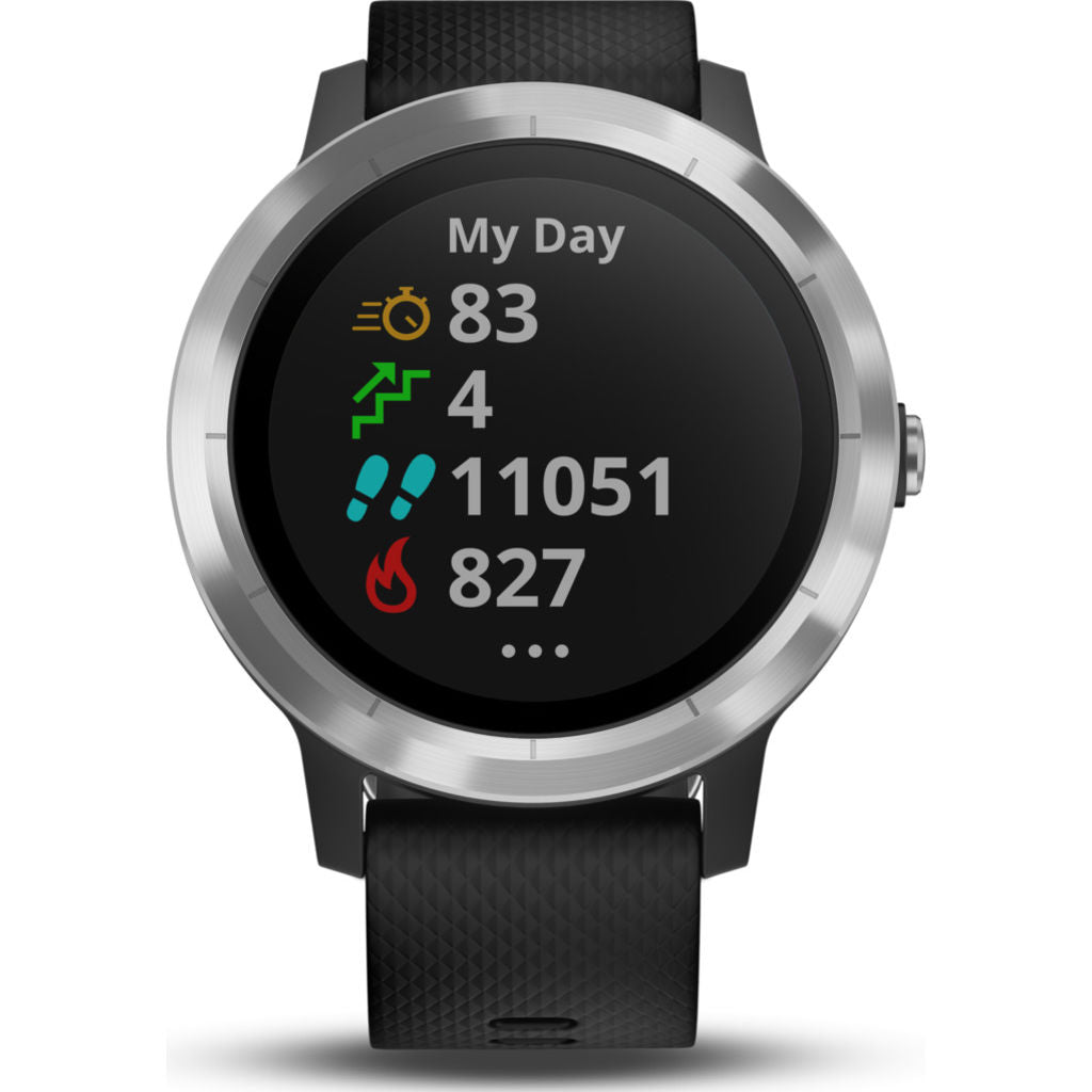 Garmin Vivoactive 3 HR Activity Tracking GPS Smartwatch | Black & Stainless