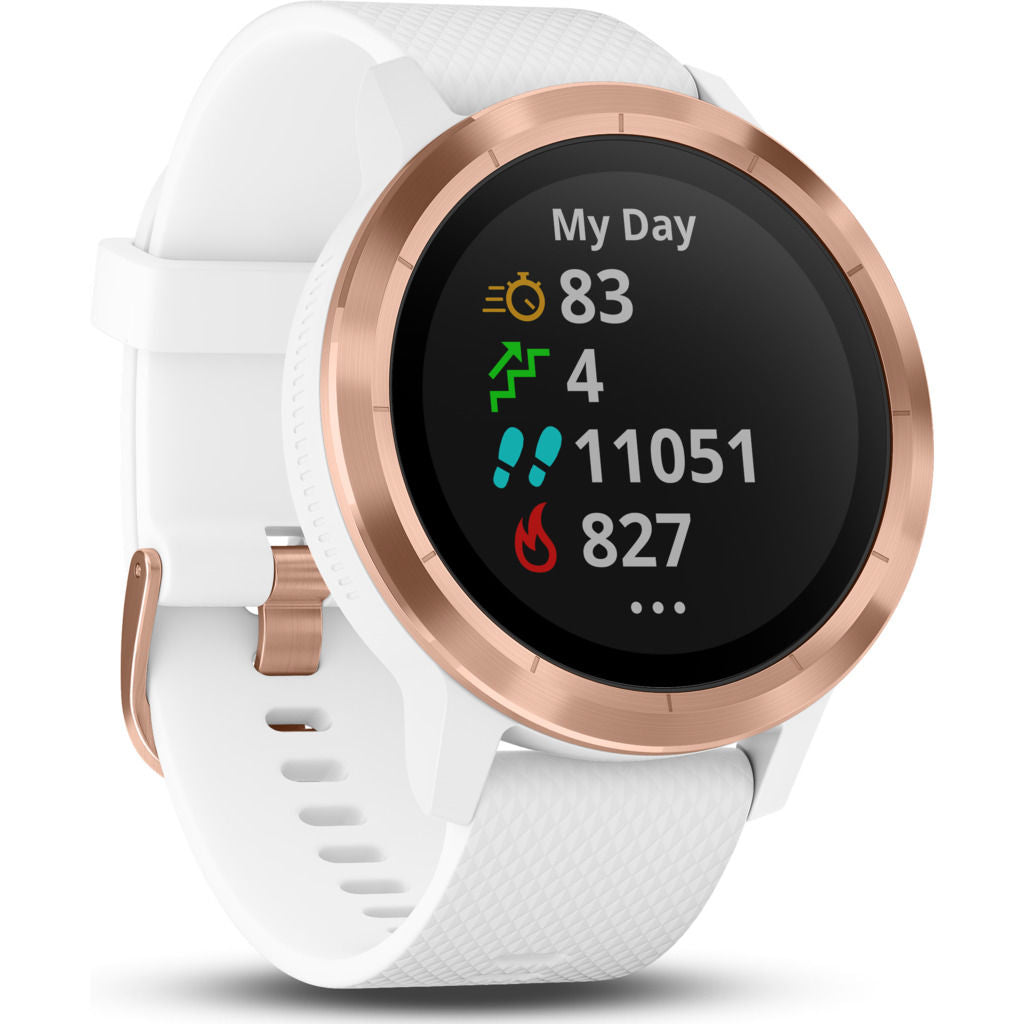 Garmin Vivoactive 3 HR Activity Tracking GPS Smartwatch | Rose Gold/White 010-01769-05