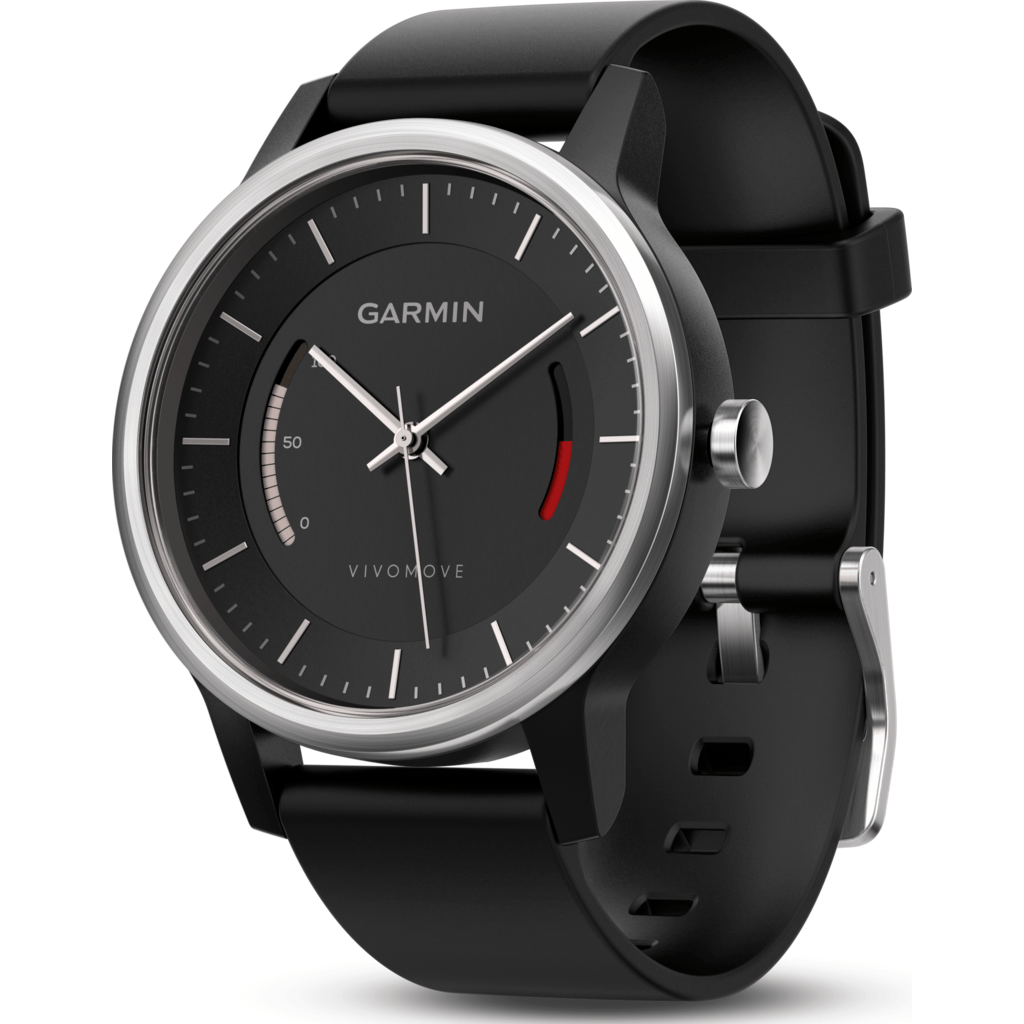 Garmin Vivomove Classic Activity Tracking Watch | Black/Leather 010-01597-12