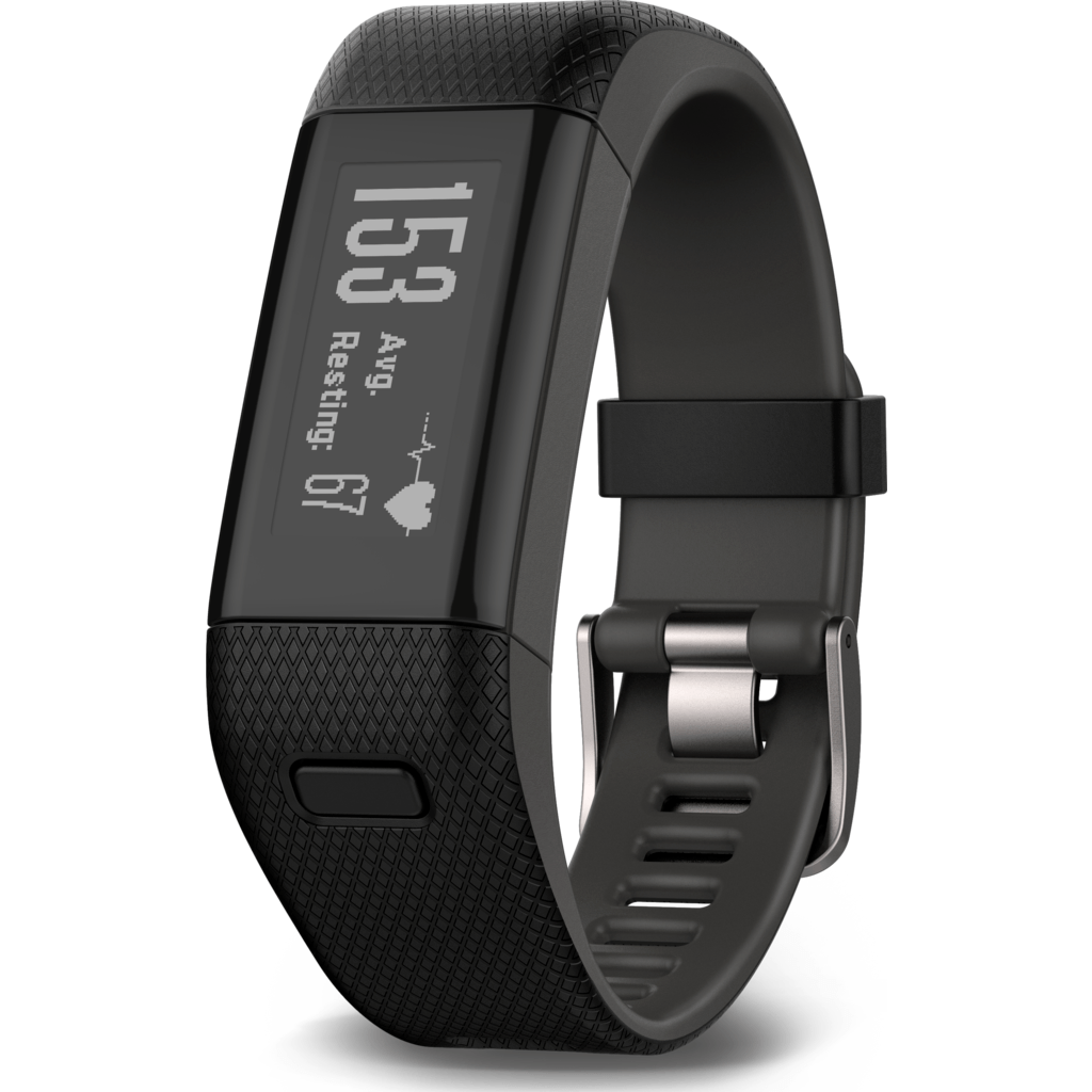 Garmin Vivosmart HR+ GPS Activity Tracker | Black/Shark Fin Gray