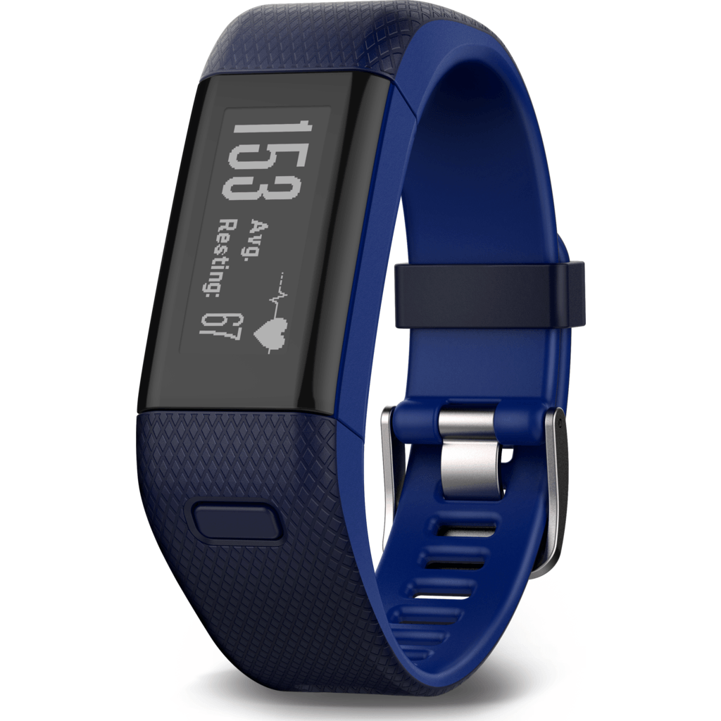 Garmin Vivosmart HR+ GPS Activity Tracker | Midnight Blue/Bolt