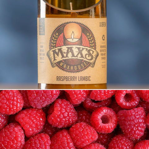 Max's Waxhouse 6oz Beer Bottle Candle | Raspberry Lambic