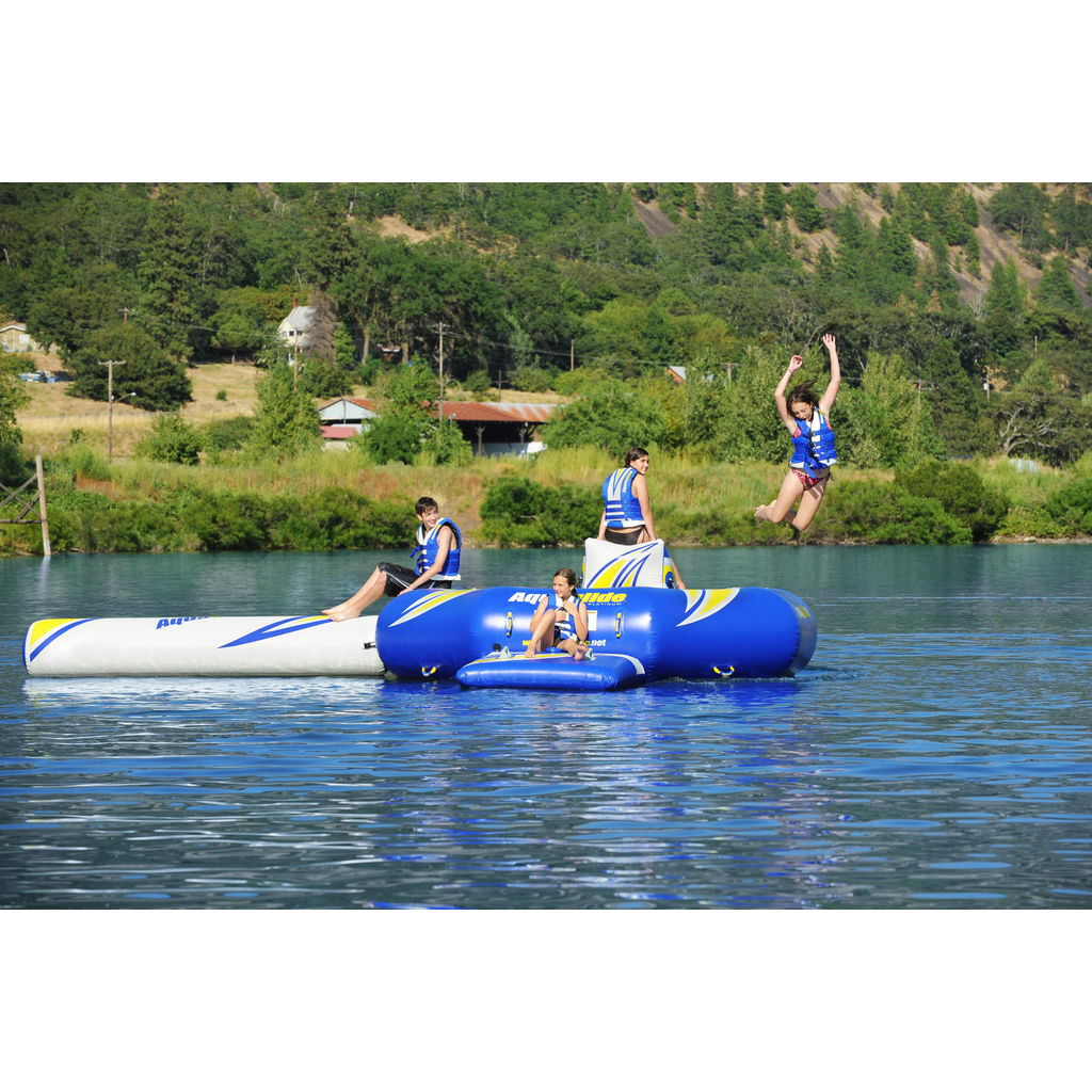 Aquaglide Rebound 12 Inflatable Trampoline | Yellow/Blue/Black 58-5209100