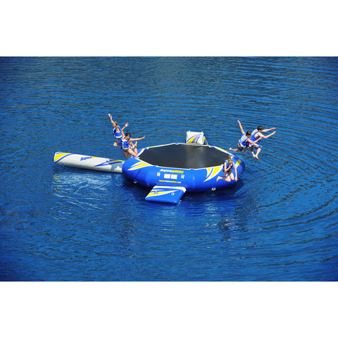 Aquaglide Rebound 16 Inflatable Trampoline w/ Log & Slide | Yellow/Blue/White 58-5209201