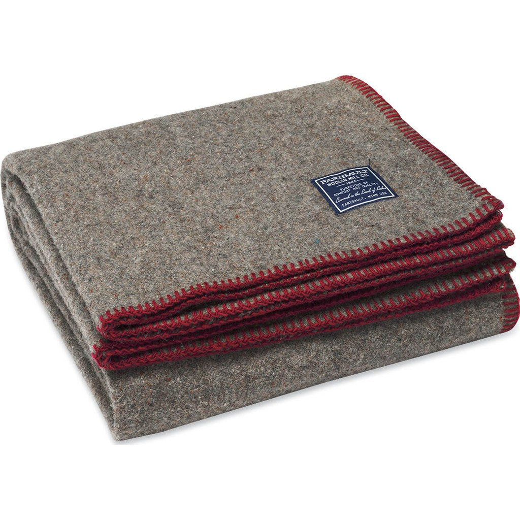 Faribault Eco-Woven Wool Throw | Wine 19010 50x72