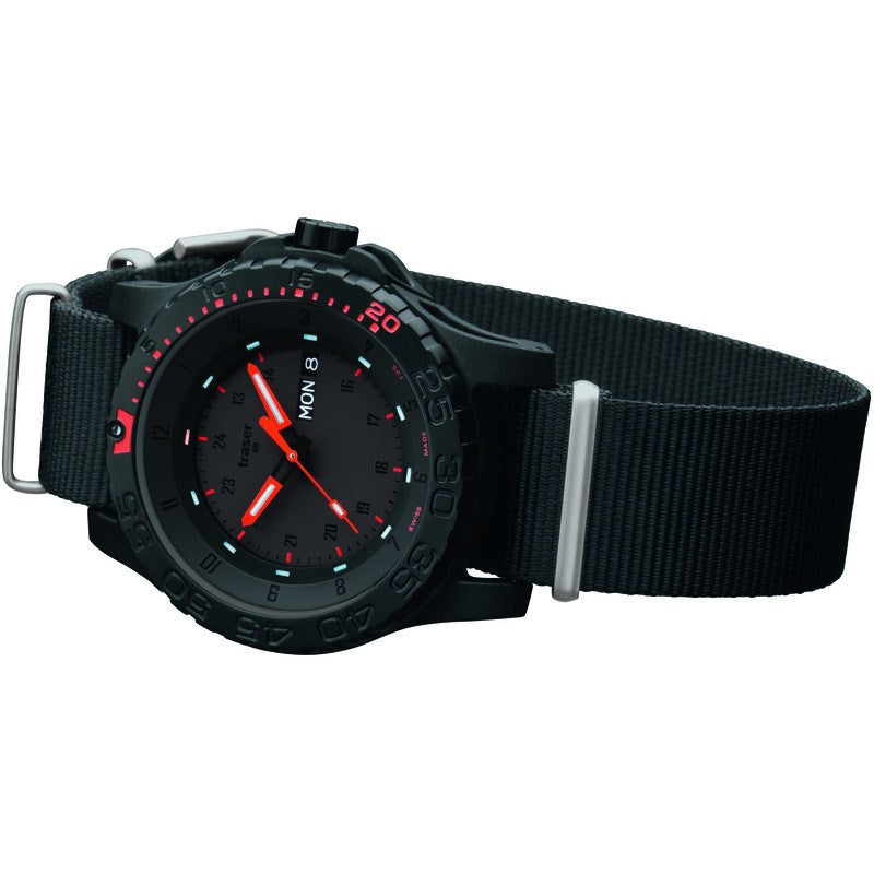 traser H3 Professional Red Combat Men's Watch Nylon Strap