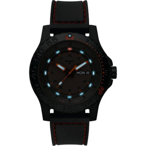 traser H3 Red Combat Watch | Rubber Strap 105503