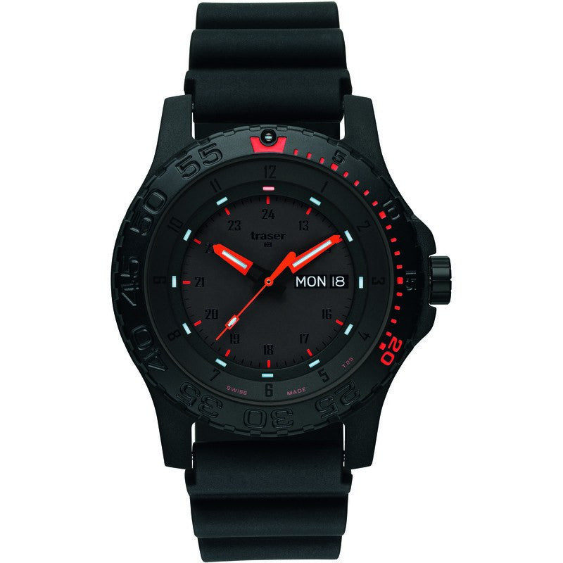 traser H3 Professional Red Combat Men's Watch Rubber Strap