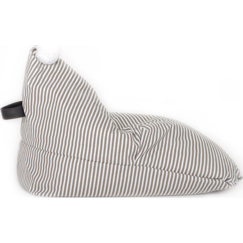 Wild Design Lab Reeve Bean Bag Chair Cover | Grey/White Stripes BBCR
