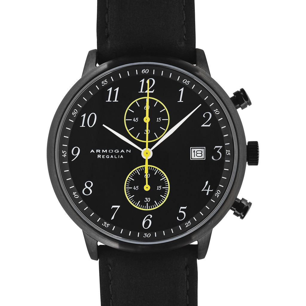 Armogan Regalia S-25 Chronograph Watch | Midnight Black