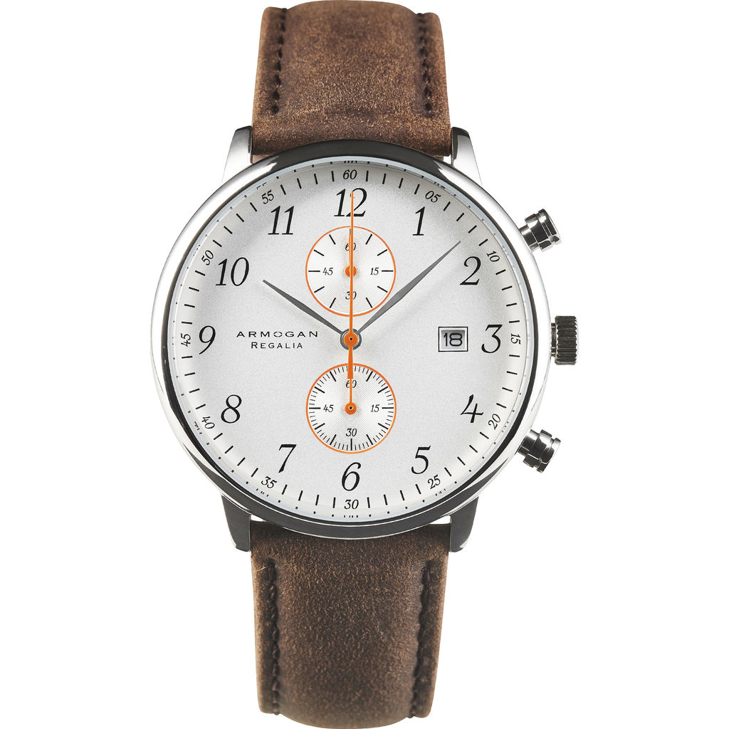 Armogan Regalia S-87 Chronograph Watch | Silvered White