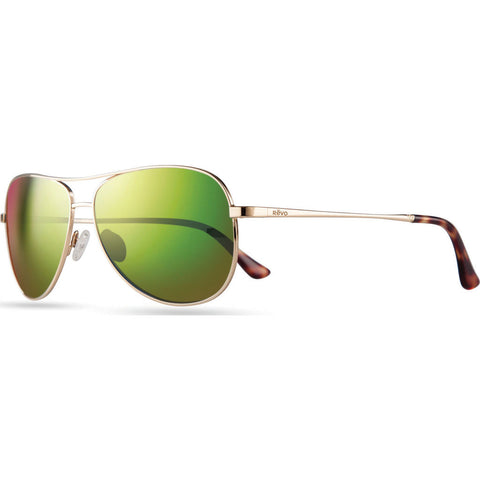 Rēvo Eyewear Relay Gold Sunglasses | Green Water