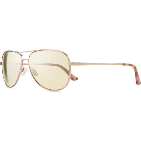 Rēvo Eyewear Relay Rose Gold Sunglasses | Champagne