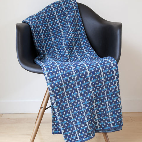 Stacy Garcia Retro Eco Throw | Marled Blue/Marine/Pond/Teal- SG-RT01