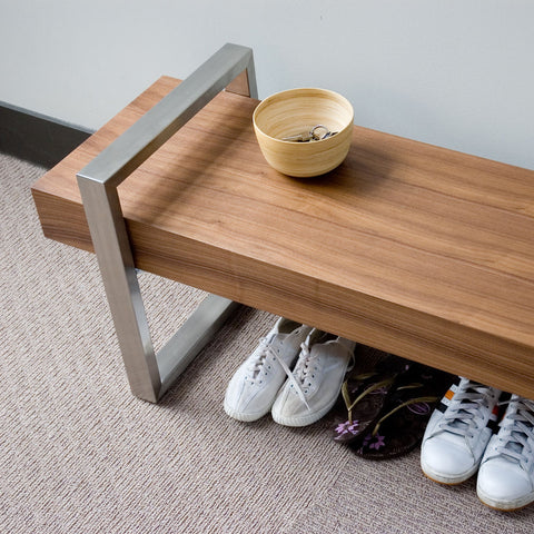 Gus* Modern Return Bench | Walnut ECBERETU-wa