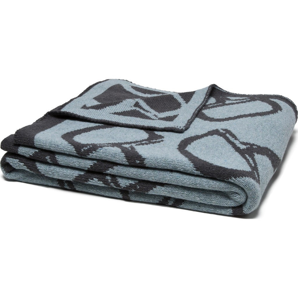 in2green Bits Reversible Eco Throw | Blue Pond/Smoke BL02RB6