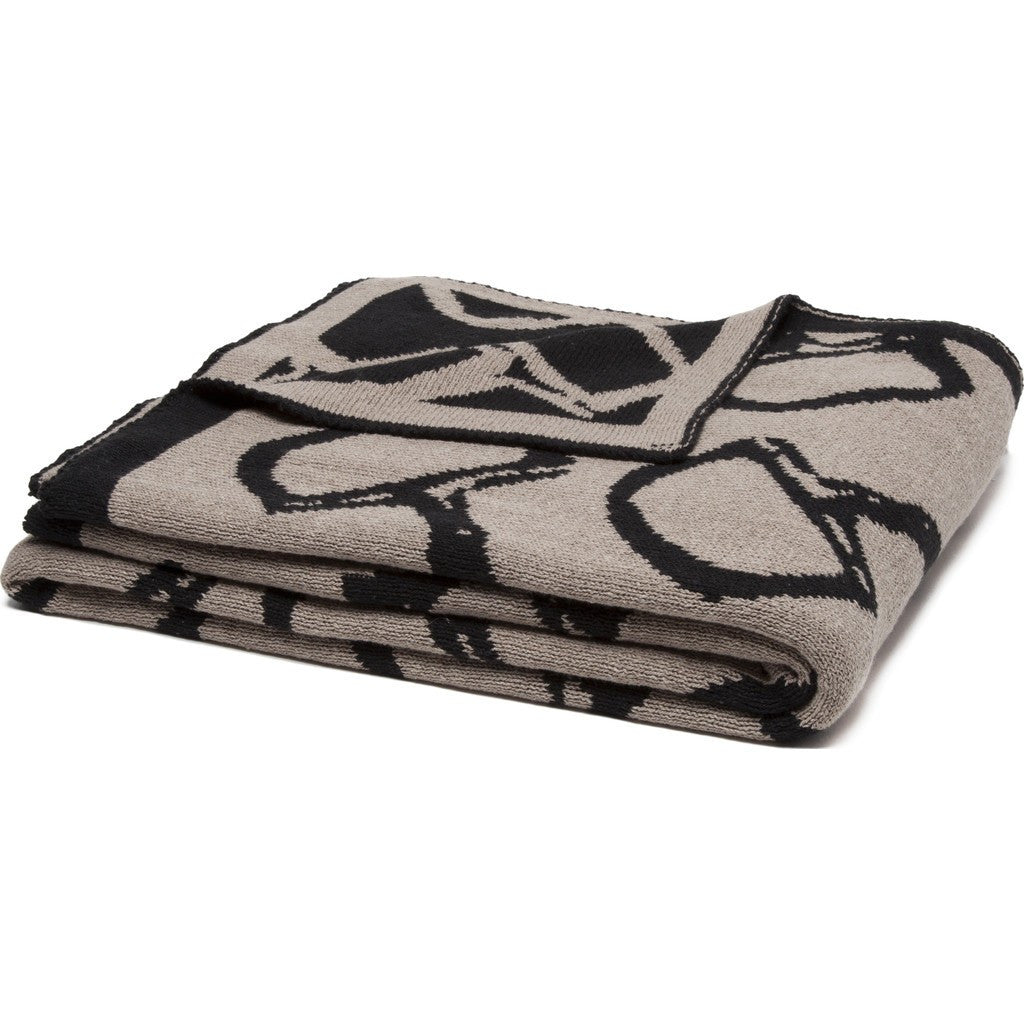 in2green Bits Reversible Eco Throw | Hemp/Black BL02RB2
