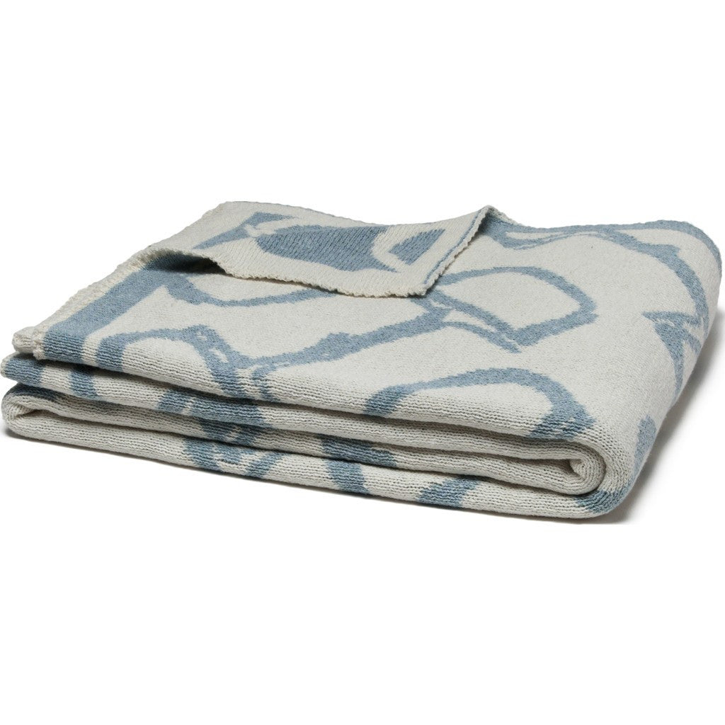 in2green Bits Reversible Eco Throw | Milk/Blue Pond BL02RB5