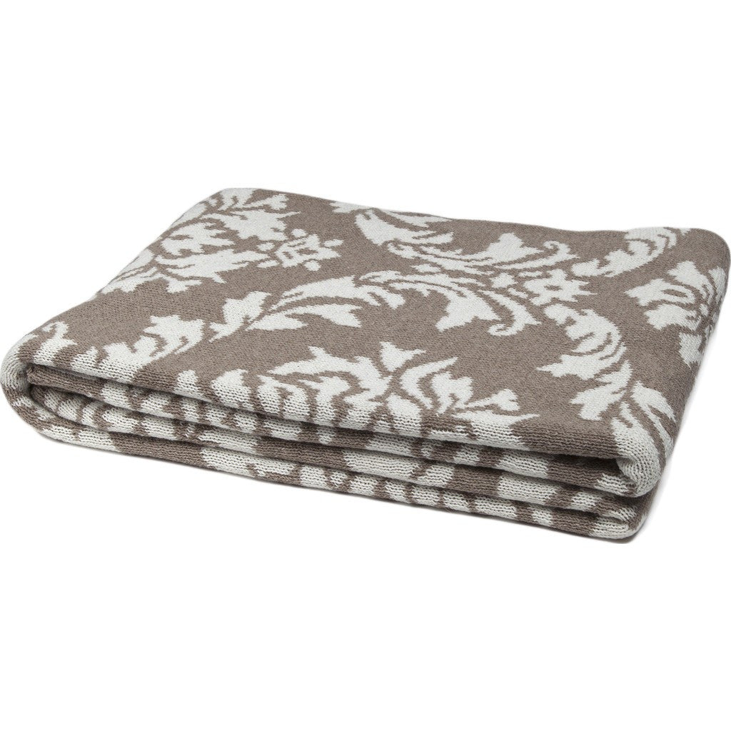 in2green Damask Reversible Eco Throw | Hemp/Milk BL02RDK1