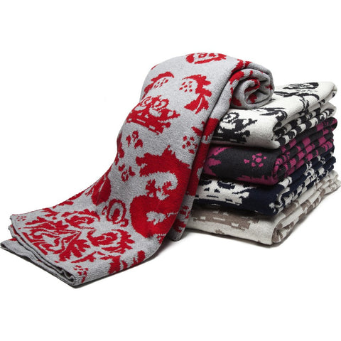 in2green Dragons Reversible Eco Throw | Cherry/Aluminum BL02RD4