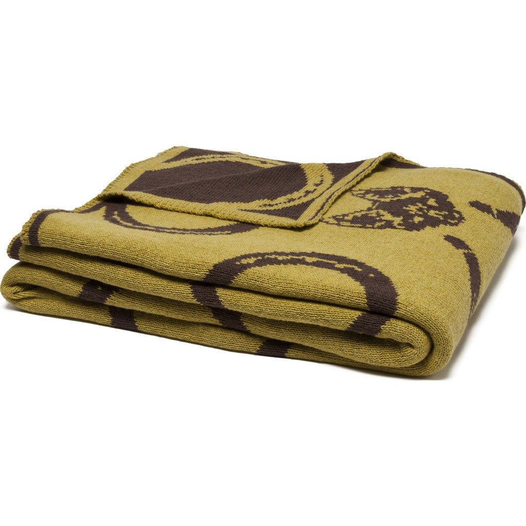 in2green Mr. Fox Reversible Eco Throw | Moss/Chocolate BL02RMF4