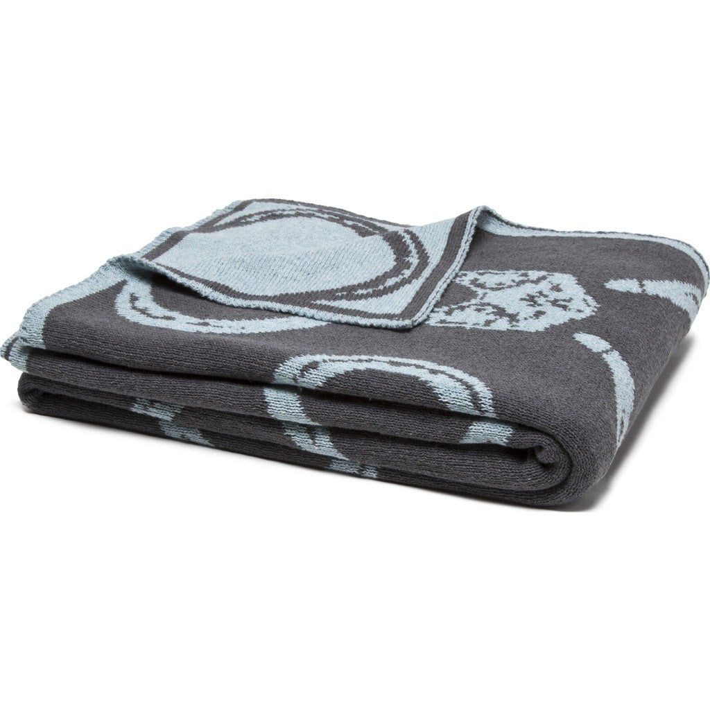 in2green Mr. Fox Reversible Eco Throw | Blue Pond/Smoke BL02RMF2