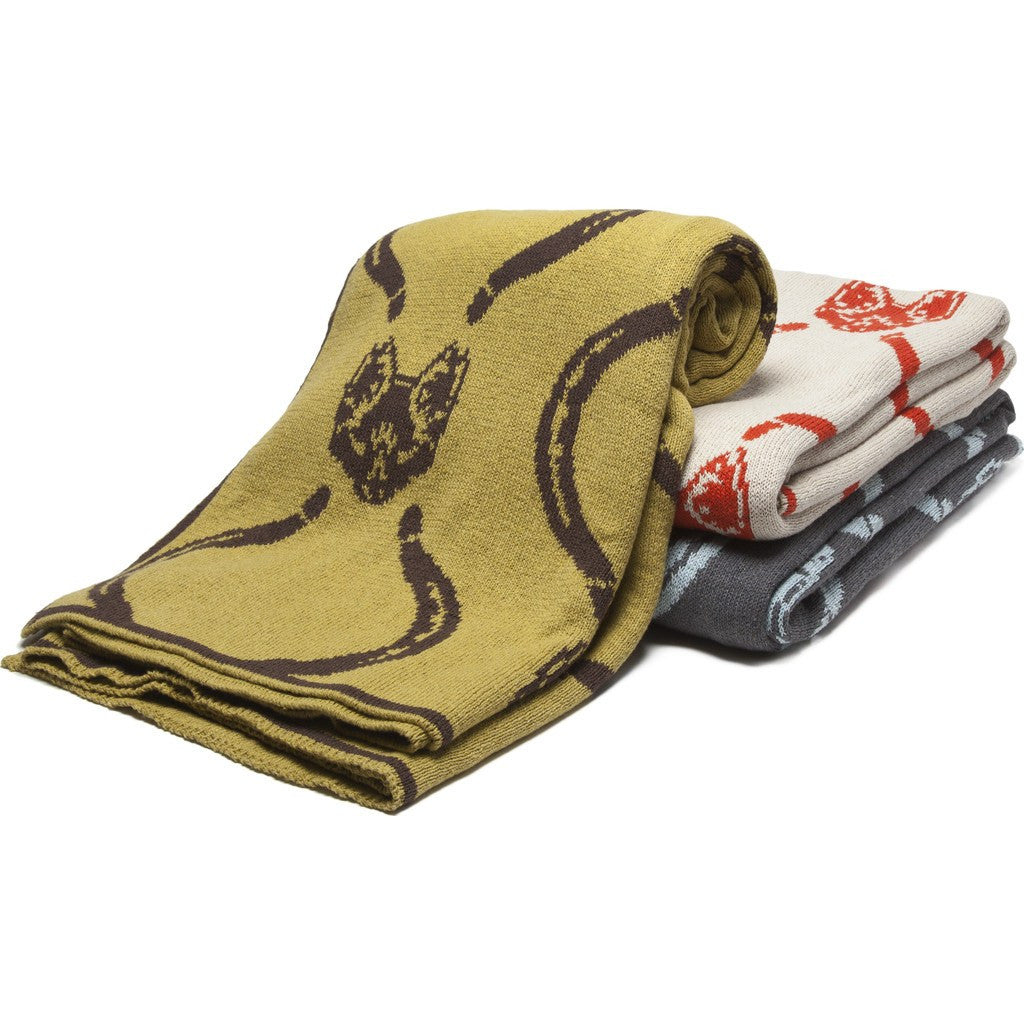 in2green Mr. Fox Reversible Eco Throw | Spice/Flax BL02RMF1