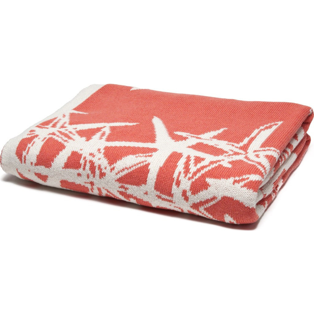 in2green Tumbling Starfish Reversible Eco Throw | Coral/Milk BL02RTS3