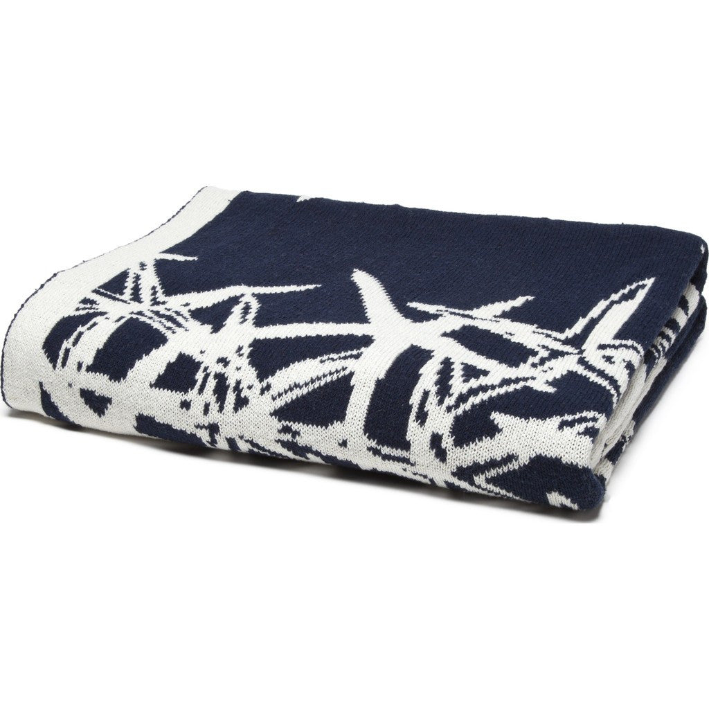 in2green Tumbling Starfish Reversible Eco Throw | Marine/Milk BL02RTS1