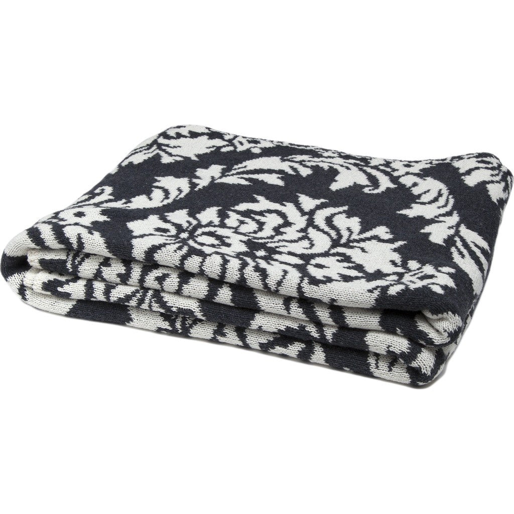 in2green Damask Reversible Eco Throw | Charcoal/Milk BL02RDK2