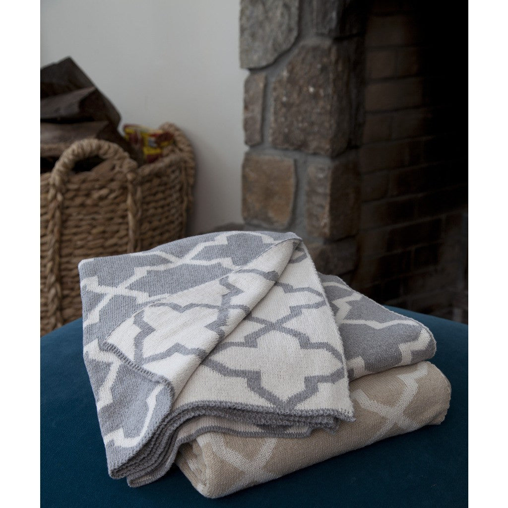 in2green Morocco Reversible Eco Throw | Blue Pond/Milk BL02RM5