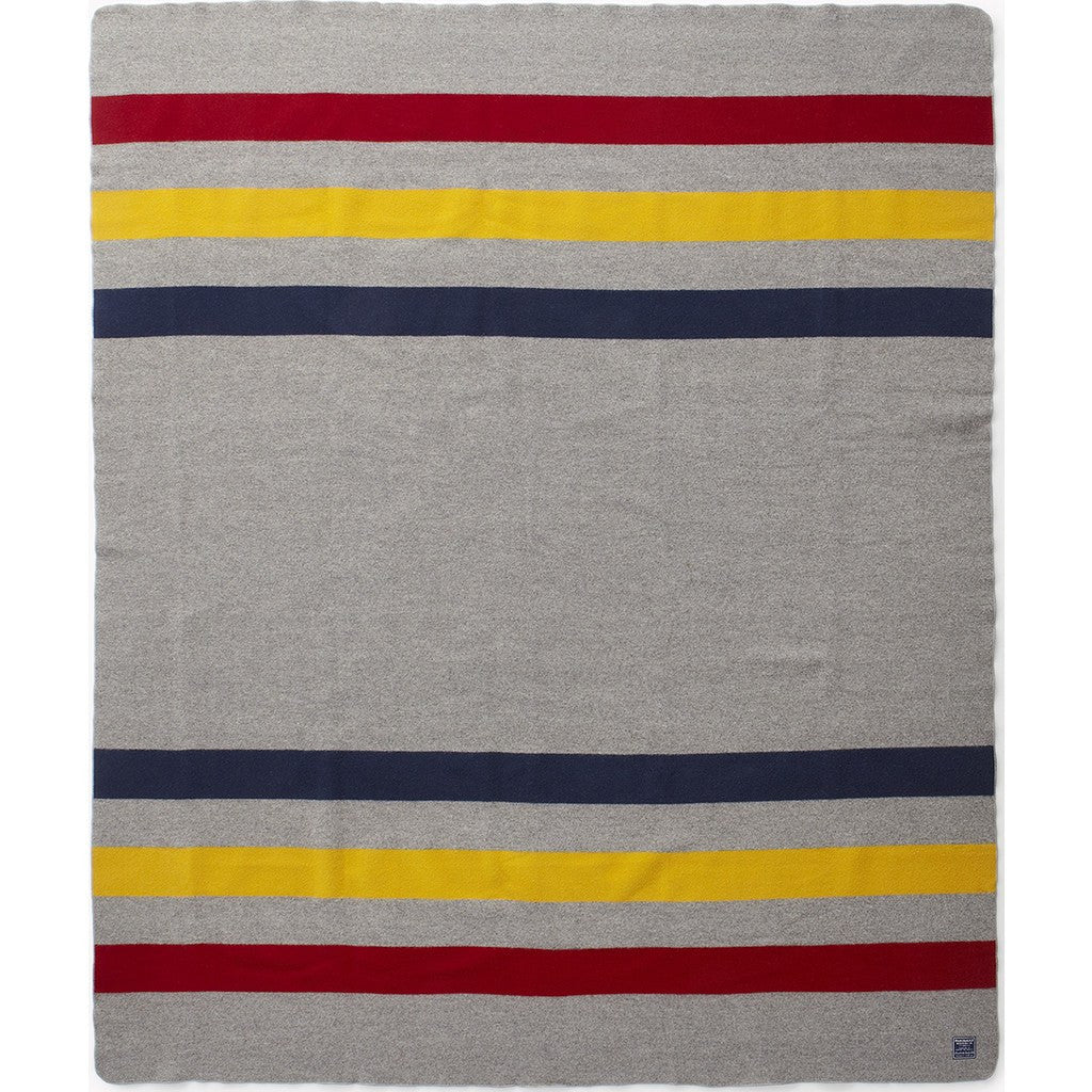 Faribault Revival Stripe Wool Blanket | Gray 1626 Twin/1619 Queen