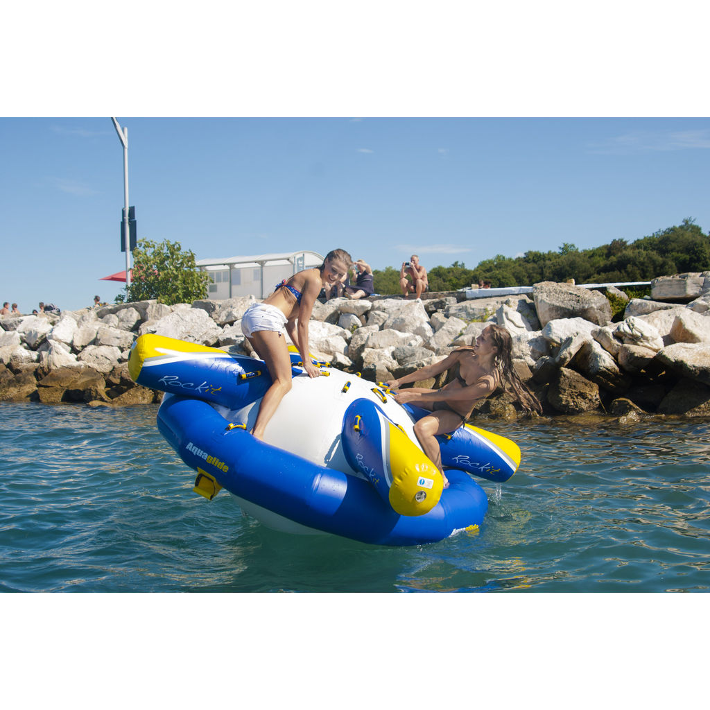 Aquaglide Rockit Jr Water Rocker | Yellow/Blue/White 58-5215118