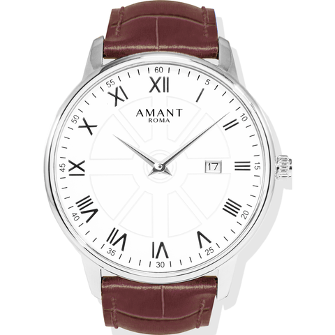 AMANT Roma Silver Watch | Sienna Brown