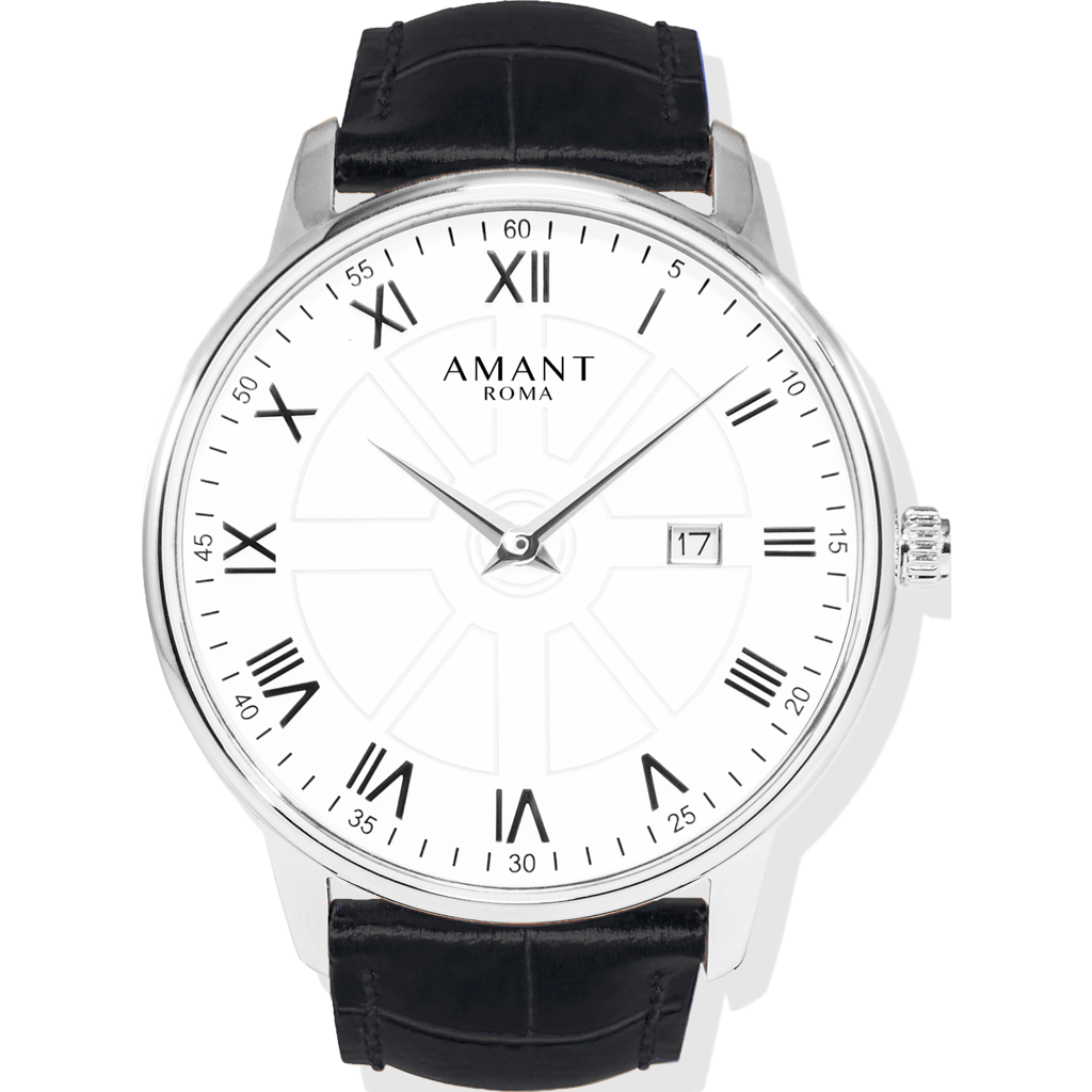 AMANT Roma Silver Watch | Black