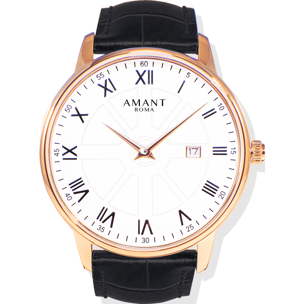 AMANT Roma Gold Watch | Black