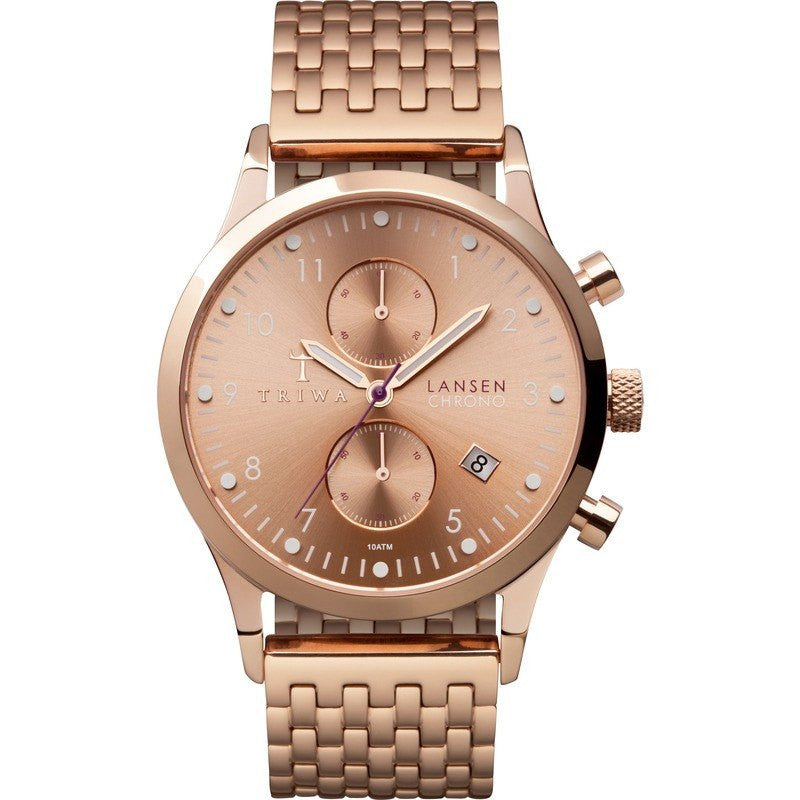 Triwa Rose Lansen Chrono Watch | Rose Brace LCST104.BR021414
