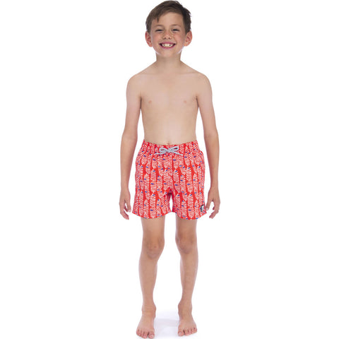 Tom & Teddy Boy's Rowan Swim Trunk | Paprika & Blue / 11-12