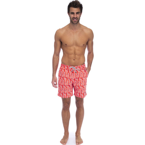 Tom & Teddy Men's Rowan Swim Trunk | Paprika & Blue / 2XL