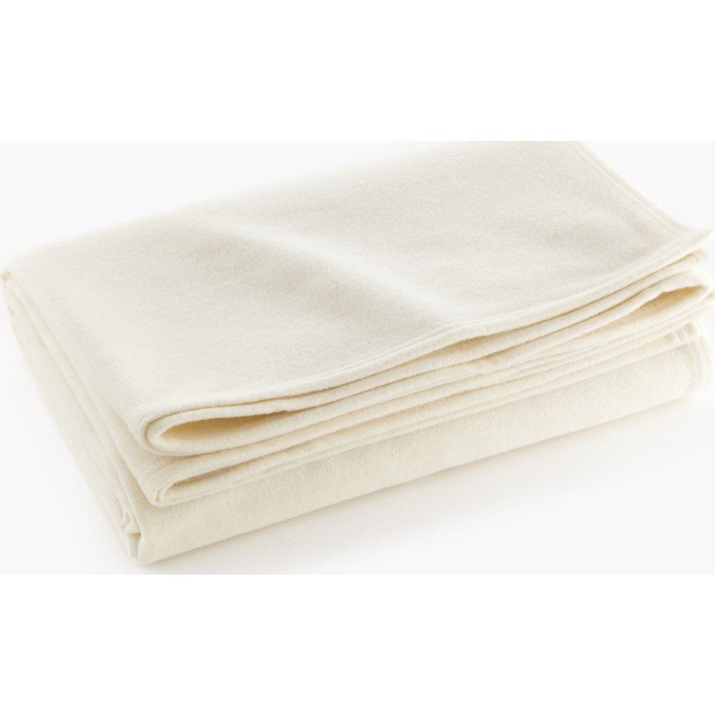Faribault Royal Carefree Wool Blanket | Bone White 865 Twin/575 Queen/551 King