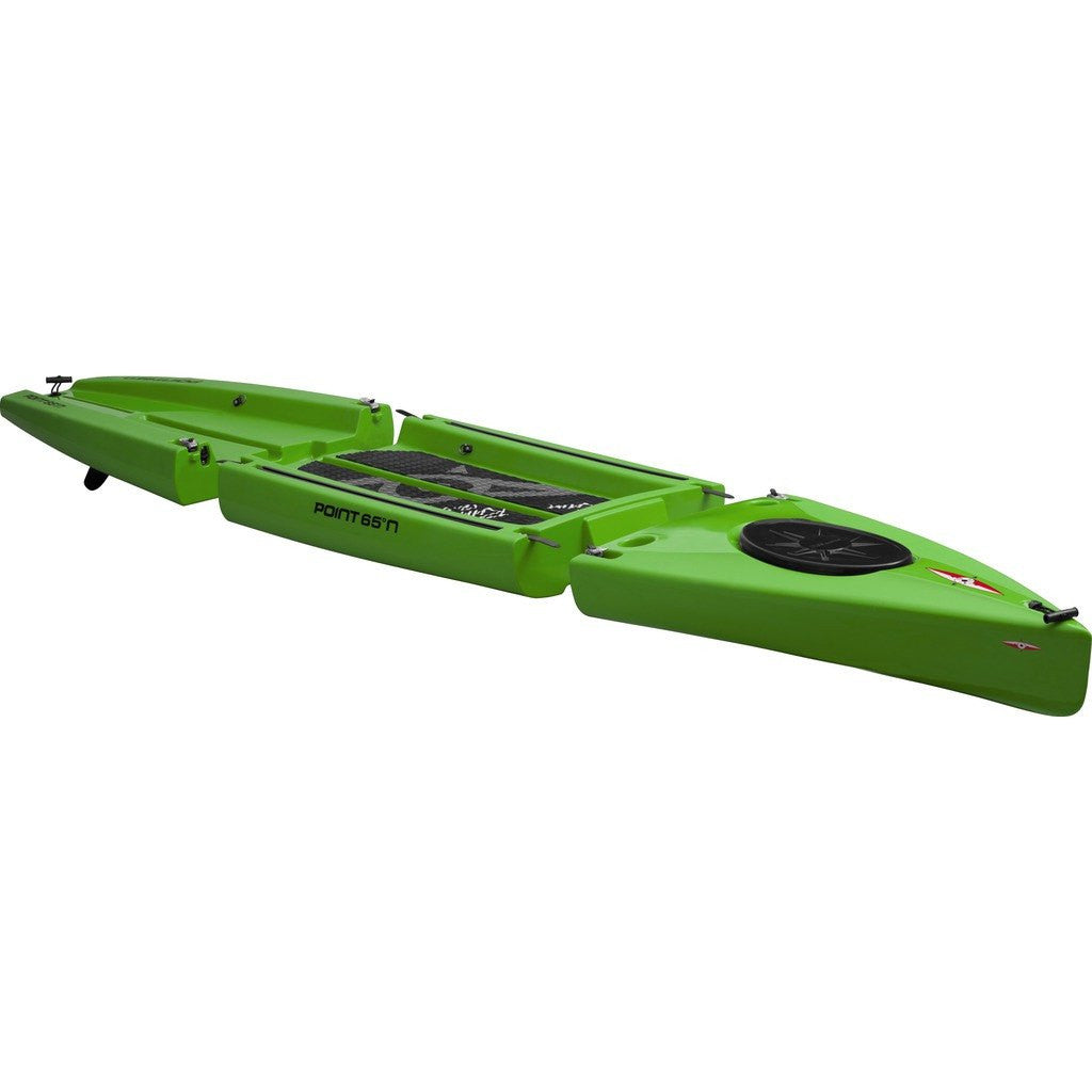 Point 65 Rum Runner 12.5 Modular Kayak Mid Section | Lime 37