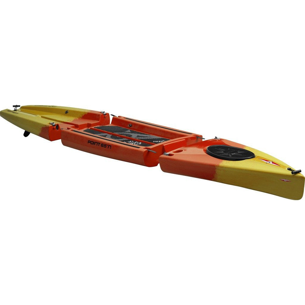 Point 65 Rum Runner Modular Kayak Front & Back Section | Yellow/Orange 53