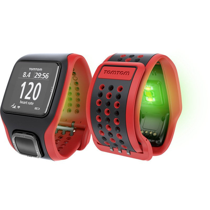 TomTom Runner Cardio GPS Watch Black/Red | 1RA000100